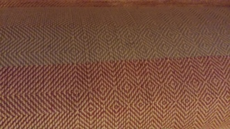 Color change on the Goose-Eye Table Cloth from Kay's red to Kate's grey