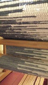Vickie's Rug - under the loom